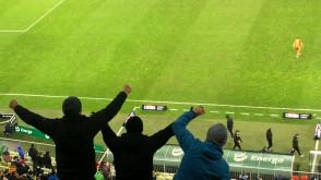Radość po zwycięstwie Lechii nad Jagiellonią