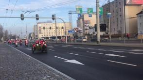 Mikołaje na motocyklach na Wzgórzu