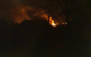 Pożar przy ul. Białostockiej