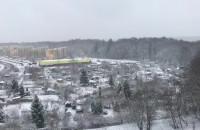 Witomino pod białą pierzynką po opadach śniegu