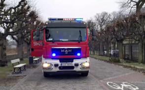 Straż pożarna przy plaży w Sopocie