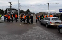 Protest na drodze koło Cieplewa