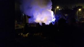 Pożar samochodu na ulicy Wenedy w Gdańsku