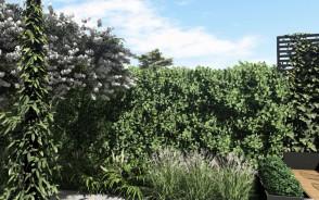 Projekt małego ogrodu w Gdyni   Wzgórze Bernadowo   Pracownia STTYK