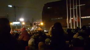 Magdalena Adamowicz na pl. Solidarności dziękuje za wsparcie