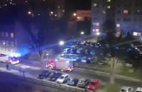 Jakaś akcja na ul. Szarej