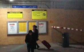 Zamknięty tunel przy dworcu Gdańsk Główny