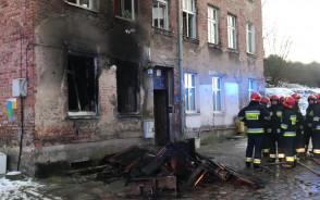 Skutki pożaru przy ul. Ogińskiego