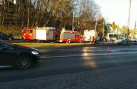 Działania służb na miejscu wypadku w Sopocie