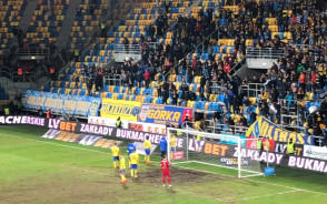 Kibice Arki Gdynia w(y)zywają trenera do odejścia