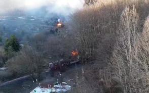 Dwa pożary na działkach na Witominie