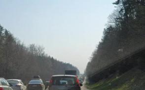 Korek na obwodnicy za Karwinami w stronę Gdańska