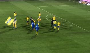Kibice Arki Gdynia po meczu z Miedzią Legnica