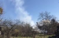 Straż gasi pożar w Małym Kacku