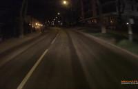 Ci rowerzyści - bez oświetlenia i po pasach