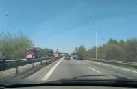 Korek od węzła S7 w Straszynie w stronę Gdynii