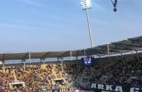 Doping na meczu Arka Gdynia - Zagłębiem Sosnowiec