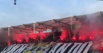 Race na meczu Arka Gdynia - Zagłębie Sosnowiec