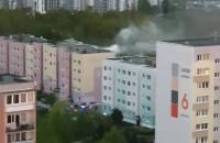 Pożar w bloku na Morenie