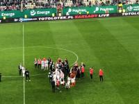 Flavio Paixao przemawia do kibiców Lechii Gdańsk