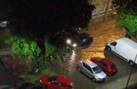 Ulica Szara jak zawsze pod wodą