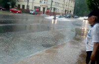 Skutki ulewy w Sopocie - Niepodleglości/Reja