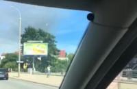 Pożar na drodze z Pruszcza do Gdańska