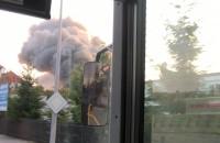 Pożar hali na Oruni