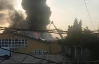 Pali się Cdp na Oruni, koło straży pożarnej