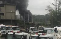 Orunia Dolna. Pożar przy ul. Sandomierskiej