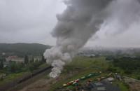Pożar rur PCV na Sandomierskiej w Gdańsku