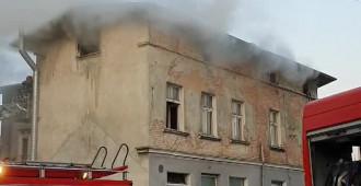 Pożar opuszczonej kamienicy w Oliwie