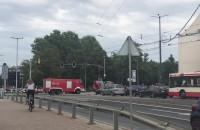 Kilka zastępów straży podjechało pod Forum Gdańsk