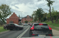 Paraliż przy wjeździe do tunelu Forum Gdańsk