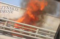 Pożar auta na obwodnicy południowej w Gdańsku