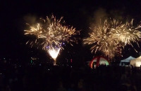Pokaz fajerwerków podczas Gdynia Aerobaltic