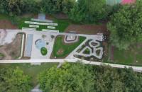 Teren Parku Centralnego w Gdyni z lotu ptaka
