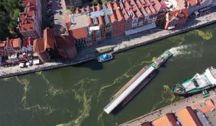 Kładka św. Ducha przypłynęła do Gdańska