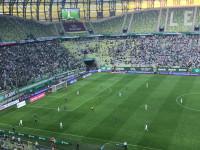 Rafał Wolski trafił w poprzeczkę w meczu Lechia Gdańsk - Śląsk Wrocław
