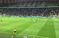 Ważna obrona Kuciaka w końcówce meczu Lechia - Lech