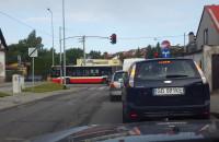 Utrudnienia w ruchu przez autobus
