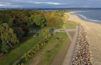 Nowe nabrzeże i bulwar na Westerplatte