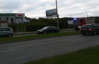 Straż jadąca do pożaru autobusu
