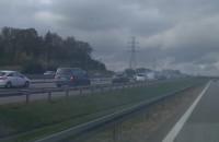 Zepsute auto na wysokości Matarni w stronę Gdyni