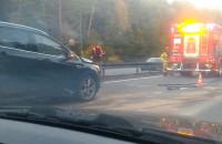 Wypadek osiem aut na obwodnicy