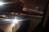 Płonące auto na S7, kierunek Gdynia