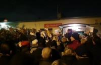 Protest mieszkańców pod SM Ujeścisko