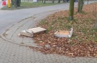 Śmieci na ulicy w Sopocie