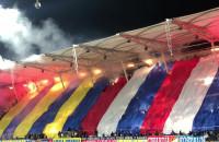 Arki Gdynia - Pogoń Szczecin. Oprawa i race