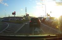 Auto jechało pod prąc na Armii Krajowej w Gdańsku